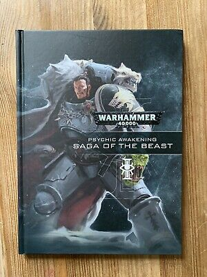 Warhammer Book Hardback Psychic Awakening Saga Of The Beast • 17.04£
