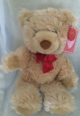 Keel Toys Brown Bear With Red Ribbon Plush. • 6.99£