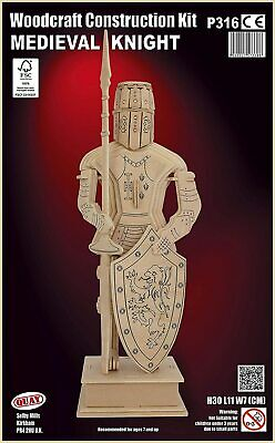 Medieval Knight Woodcraft Construction Kit • 9.75£