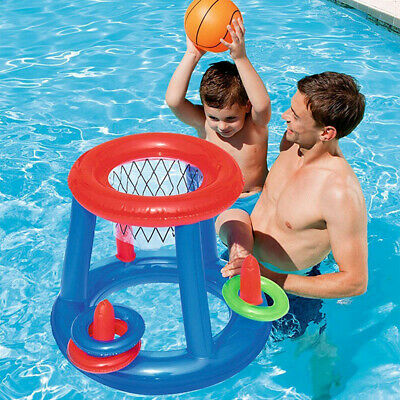 Water Toy Basketball Hoop Pool Float Inflatable Play Game Swimming Pool Water, • 4.97£