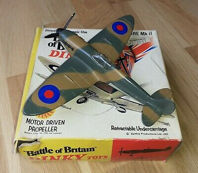 Dinky Toys RAF Spitfire MK II Fighter Plane, #719 Boxed In Very Good Condition • 40£