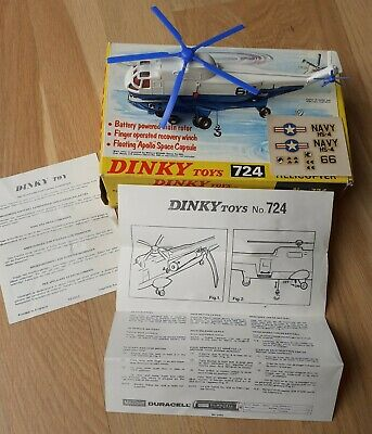 Dinky Toy Sea King Helicopter, #724 Boxed In Excellent Plus Condition • 65£