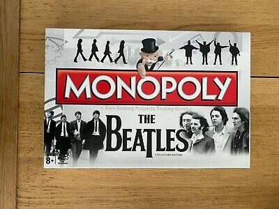 THE BEATLES Monopoly Board Game - COLLECTORS EDITION NEW • 10£