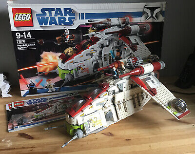 LEGO Star Wars Republic Attack Gunship (7676) Used Boxed And Instructions • 70£