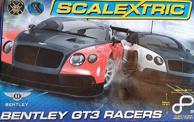 Scalextric Bentley GT3 Racers Set Used !! Includes Two Cars And Full Track.  • 19.99£