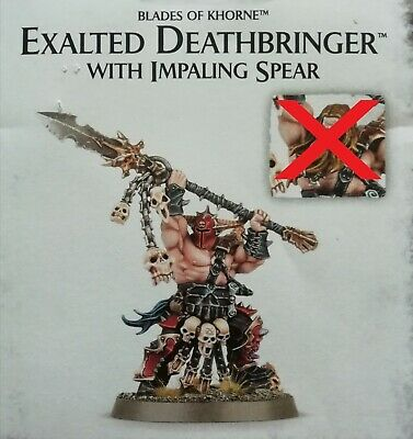 Khorne Bloodbound Exalted Deathbringer With Impaling Spear (no Second Head) • 17£