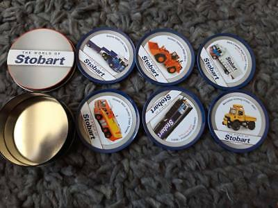 BRAND NEW Atlas Editions  World Of Stobart Full Set 6 Corked Coasters In A Tin • 3£
