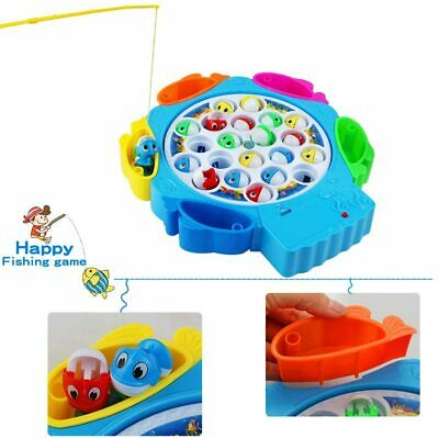 Fish Game Toy Musical Toys Kids Fishing Rod Set Board Games Role Play Girls Boys • 9.49£