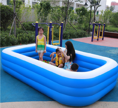290 CM Large Family Swimming Pool Outdoor Garden Inflatable Adults Kids Paddling • 29.89£
