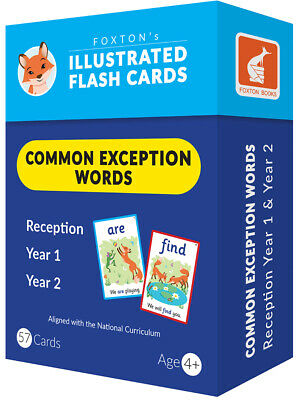Common Exception Words Flash Cards: Reception, Year 1 &Year 2 Words ILLUSTRATED! • 8.99£