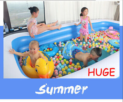 XX Large Inflatable Family Swimming Pool Outdoor Paddling Pool Garden Kids Adult • 29.89£