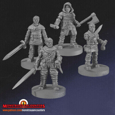 Bandits X4 Compatible With Mordheim,AoS, Warhammer,D&D & RPG • 8£