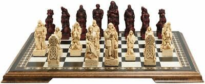 Sac Viking Vs Celtic Burgundy & Ivory With Wooden Board Uk Made.great. • 285£