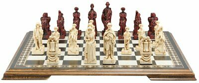 SAC American Revolutionary War Chess Set Ivory&Red With Wooden Board UK Made. • 285£