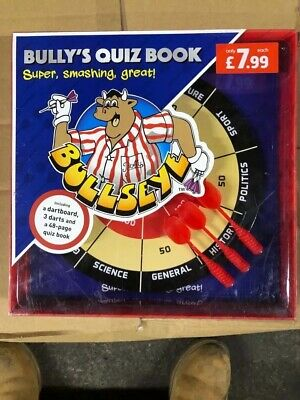 Bullseye Quiz Game And Book TV Family Fun With Magnetic Darts And Board Inside • 7£