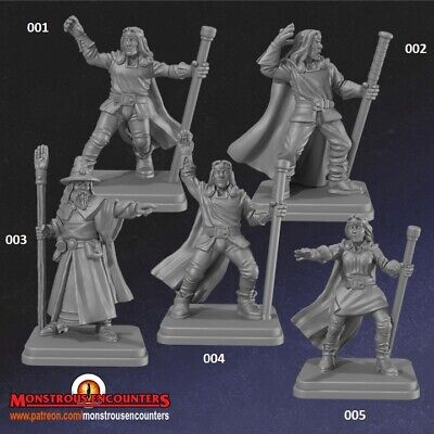 Classic Wizards Compatible With Hero Quest,Mordheim,AoS, Warhammer,D&D & RPG • 12£