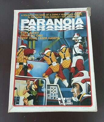 Paranoia Roleplaying West End Games First Edition Boxed Set • 45£