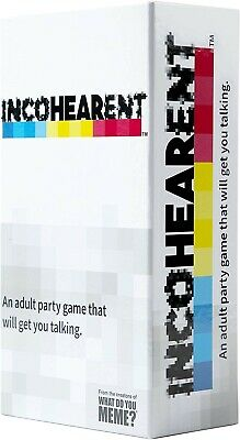 Incohearent Adult Party Card Game (BRAND NEW) Incoherent 1st Class Post • 22.99£
