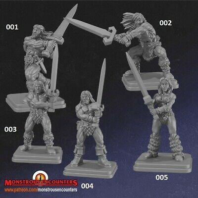 Classic Barbarians Compatible With Hero Quest, Mordheim,AoS, Warhammer,D&D & RPG • 12£