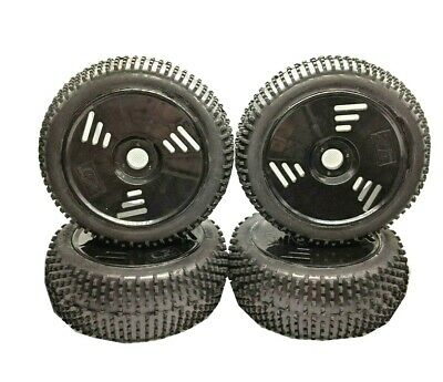 RC Car Wheels Tyres 1/8 Scale Off Road Rubber Monster Truck 4PCS *UK SHIPPING* • 19.99£