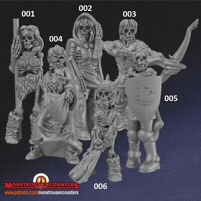 Undead Heroes Compatible With Hero Quest, Mordheim,AoS, Warhammer,D&D & RPG • 12.50£