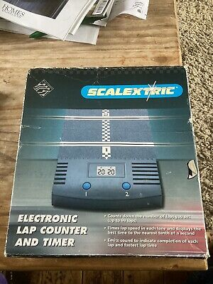 Scalextric C8045 CLASSIC Electronic Lap Counter And Timer. Boxed. Near MINT • 8.99£