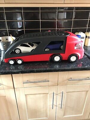 Little Tikes Car Transporter Red And Black With 2 Cars Kids Toy • 21.95£