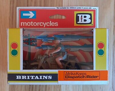 Britains Motorcycle Afrika Korps Dispatch Rider #9694, Mint & Boxed, RARE • 45£