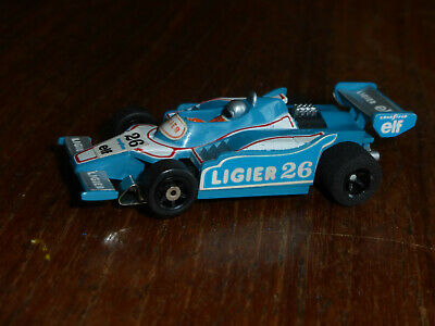 LOVELY AFX Ligier F-1 On G-Plus CHASSIS,  Aurora Tyco Micro HO Car • 59.99£