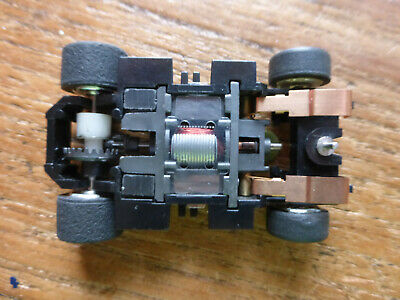 VHTF TYCO 440x2 WIDE Chassis W. CHROME HUBS, Ho Car Tomy Spares Parts Afx  • 22£