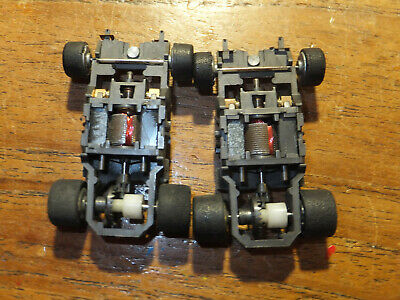 2 TYCO 440 Narrow Chassis, EXCELLENT, Ho Car Tyco Tomy Spares Parts Afx  • 26£
