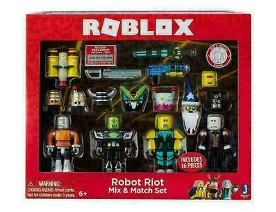 Roblox Robot Riot 4 Figure Pack Mix & Match Set Action Figure Toy Kids Xmas Gift • 8.59£