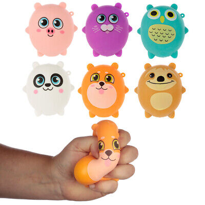 Kids Squeezable Zoo Animals Pocket Money Party Bag Stocking Filler Stress Toy • 7.74£