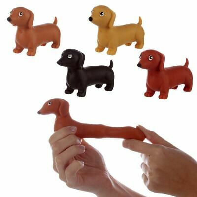 Fun Kids Stretchable Dachshund Dog Pocket Money Party Bag Filler Stress Toy • 7.65£