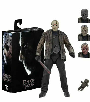 NECA Horror Freddy VS Jason Action Figure 7  Jason Voorhees Deluxe (NEW BOXED) • 24.99£