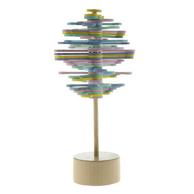 Colorful Wood Rotating Lollipop Stress Relief Sensory Relaxation Toy 21.5cm • 7.80£