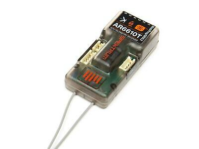 Spektrum AR6610T 6 Channel 2.4Ghz DSMX Full Range Telemetry Receiver • 55.50£