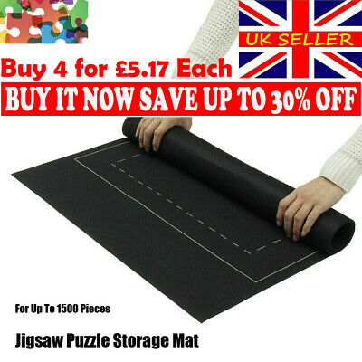 Jigsaw Puzzle Storage Mat Roll Up Puzzle Felt Storage Pad Up To 1500 Pieces NEW! • 6.49£