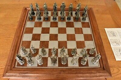 Royal Selangor Camelot Chess Set With Board And Storage Box. • 60£