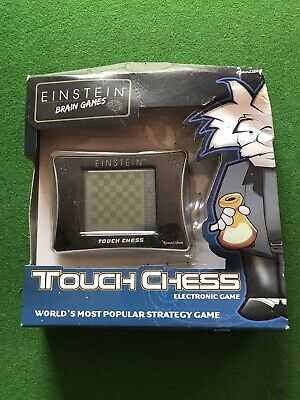 Electronic Chess Excalibur Einstein Touch Chess GAME DAMAGED BOX GAME IS OK • 12£
