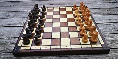 Wooden Chess Set And Board • 9.99£