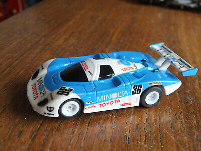 LOVELY AFX Toyota Minolta On Tomy Turbo CHASSIS,  Aurora Tyco Micro HO Car • 59.99£