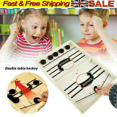Family Games Table Hockey Game Catapult Chess Parent-child Interactive Toy UK • 10.49£