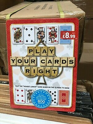 Play Your Cards Right Quiz Game , Family Fun TV Game Higher Lower New At Home • 5£