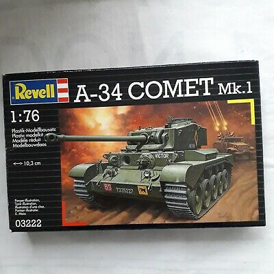 Revell 1/76 Scale A34 Coment Tank Mk 1 Unmade Scale Model Construction Kit • 1.99£