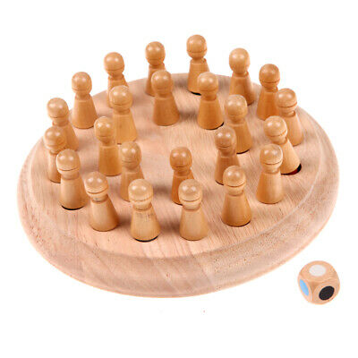 Kids Wooden Memory Match Stick Chess Game Educational Toys Gift • 10.15£