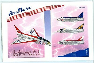1/48 EE Lightning AeroMaster Decals Pt 1 Early Days • 5.20£