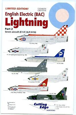 1/48 EE Lightning Cutting Edge Decals Part 2 Limited Edition • 3.10£