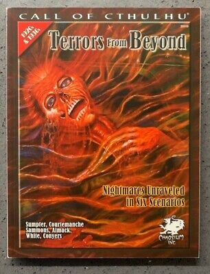 Terrors From Beyond. Call Of Cthulhu RPG Chaosium Softcover • 8£