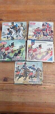 Vintage Airfix Toy Soldiers HO/OO 1/72 Napoleonic Period, 5 Boxes • 8.50£